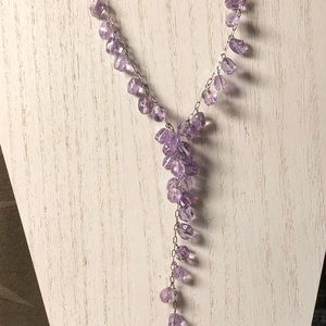Jewelry - Amethyst necklace with sterling silver
